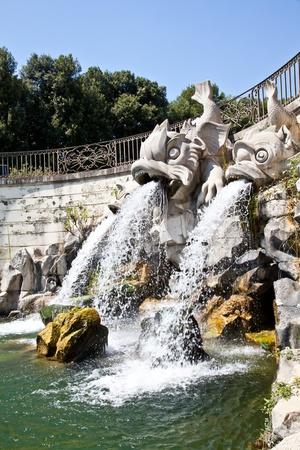 Famous Italian gardens of Reggia di Caserta, Italy. Stock Photo - 12546237