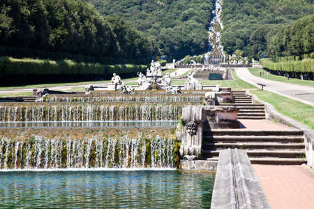 Famous Italian gardens of Reggia di Caserta, Italy. Stock Photo - 12590937