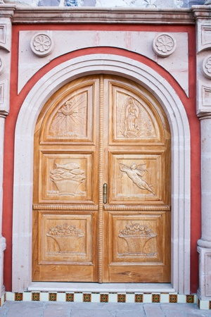 Mexico, church entrance in an old Azienda photo