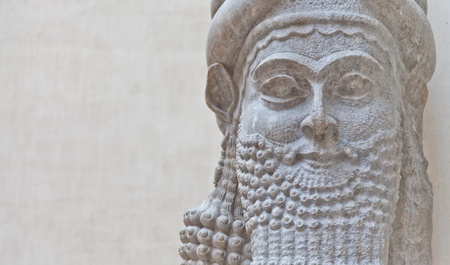 babylonian: Dating back to 3500 B.C., Mesopotamian art war intended to serve as a way to glorify powerful rulers and their connection to divinity Stock Photo