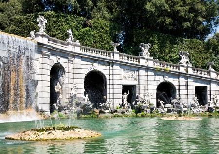 Famous Italian gardens of Reggia di Caserta, Italy. Stock Photo - 13205938
