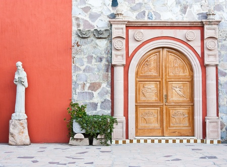 Mexico, church entrance in an old Azienda Stock Photo - 13306612