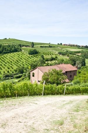 Charming Italian villa in Monferrato area (Piemonte region, north Italy) during spring season Stock Photo - 13460717