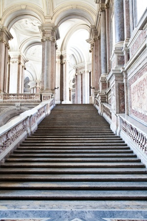 Reggia di Caserta (Caserta Royal Palaca), Italy. Luxury interior, more than 300 years old Editorial
