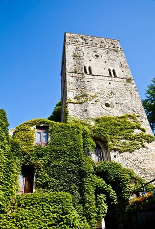 Italy - a Middle Age castle covered by ivy