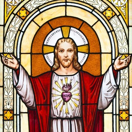 sacre coeur: Italie. L'image de J�sus dans un vieux cimeti�re. Banque d'images