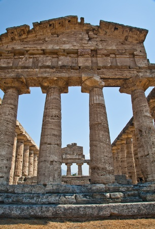 remains: The main features of the site today are the standing remains of three major temples in Doric style, dating from the first half of the 6th century BC
