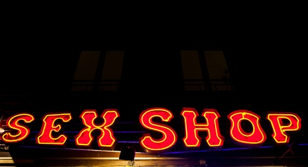 Paris - Detail of sexy shop sign, no copyrighted logo Stock Photo - 13535355