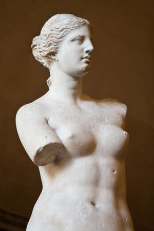Statue of the Greek goddess Aphrodite, discovered on the island of Melos ('Milo', in modern Greek), Louvre Museum, Paris photo