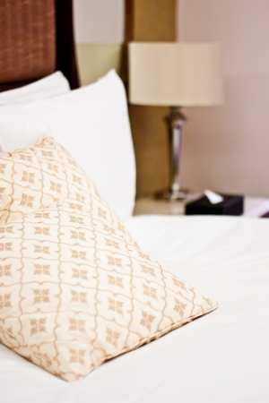 pillows in a luxury hotel photo