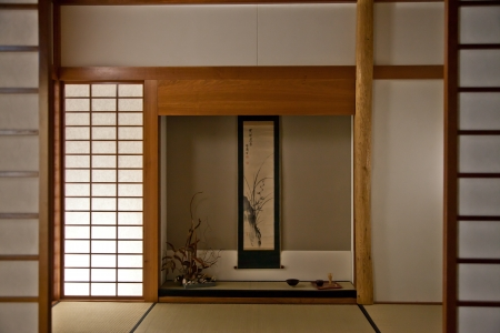 Interior of a Japanese room. Every details are original Editorial