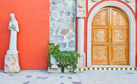 Mexico, church entrance in an old Azienda Stock Photo - 14064084