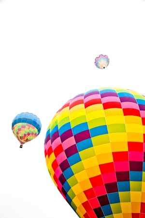 Fire balloon during a foggy day on white background Stock Photo - 14064154
