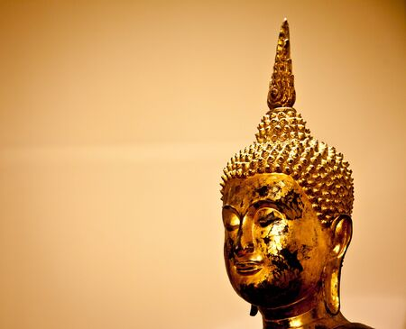 Iconic image of a classical Buddha figure photo