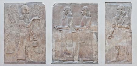babylonian: Se remonta a 3500 aC, la guerra arte mesopot�mico intenci�n de servir como una forma de glorificar a los gobernantes poderosos y su conexi�n con la divinidad Foto de archivo