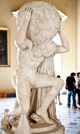 titan: 2dn century AD copy of Atlante Farnese statue