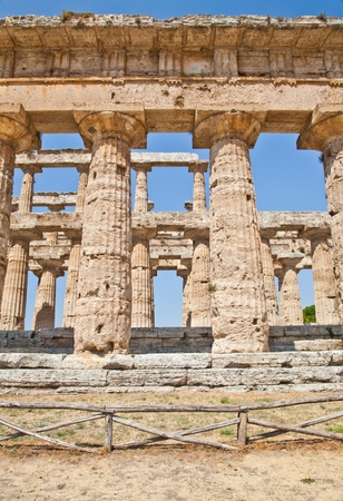 The main features of the site today are the standing remains of three major temples in Doric style, dating from the first half of the 6th century BC photo