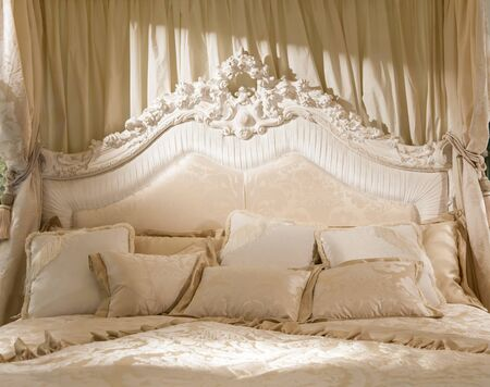 White bedroom with soft light for this romantic picture photo