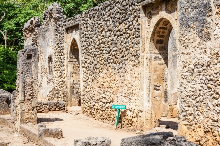 remains: Gede ruins in Kenya are the remains of a Swahili town, typical of most towns along the East African Coast Stock Photo
