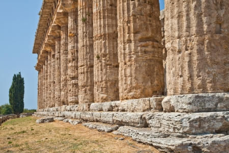 The main features of the site today are the standing remains of three major temples in Doric style, dating from the first half of the 6th century BC Stock Photo - 17462720