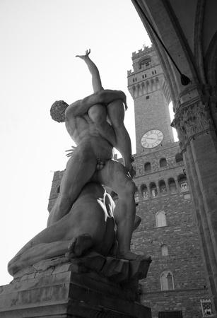 signoria square: Famous statue in Signoria Square (Piazza della Signoria), Florence