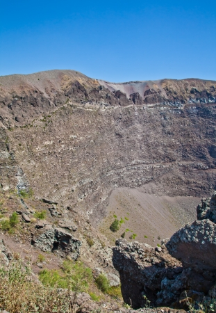 caldera: Detail of the Vesuvius crater, Naples, Italy