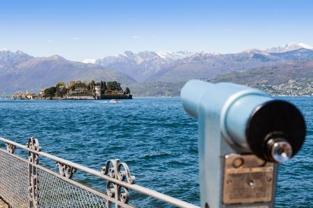 bella: Lago Maggiore, Maggiore Lake, Italy. View from the promenade in front of Isola Bella, the most beautiful of the three Isole Borromee Stock Photo