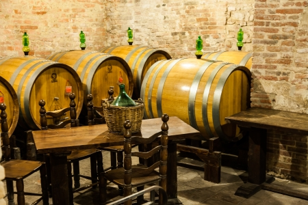 Italy, Tuscany, old canteen in Val dOrcia area dedicated to wine production photo