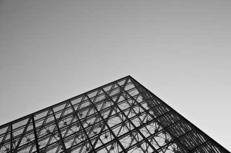 louvre pyramid: Simple design of Louvre Pyramid - Louvre Museum, Paris