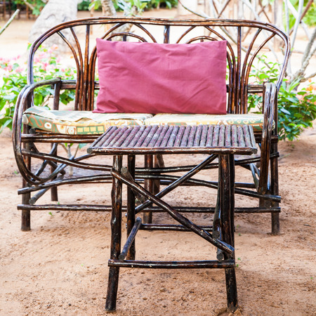 African Garden Furniture Kenya elegant furniture made of wood in an african garden stock elegant furniture made of wood in an african garden stock photo 25985361 workwithnaturefo