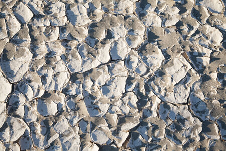 residue: Death Valley, California. Detail of salt residue in the desert.