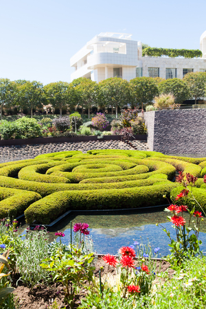 Wonderful garden maze during a sunny day