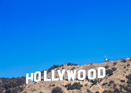 Famous Hollywood landmark in Los Angeles, California