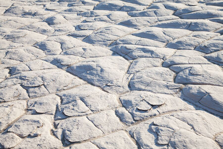 residue: Detail of salt residue in the desert at Death Valley, California