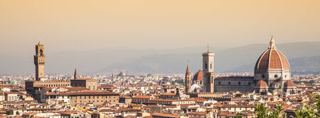 Panoramic view from Piazzale Michelangelo in Florence - Italy photo