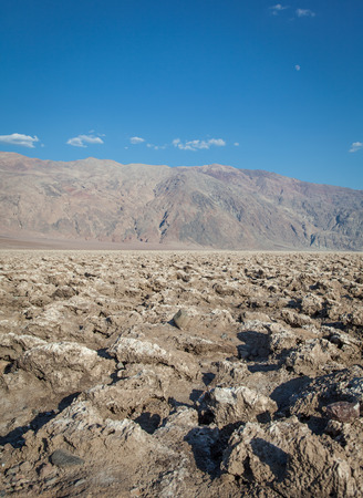 Death Valley, California. The Devils Golf Course point in the middle of the desert. photo