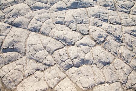 residue: Death Valley, California. Detail of salt residue in the desert.
