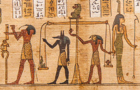 Detail of ancient Book of the Dead (1070 BC), Thebes - Egypt Redakční