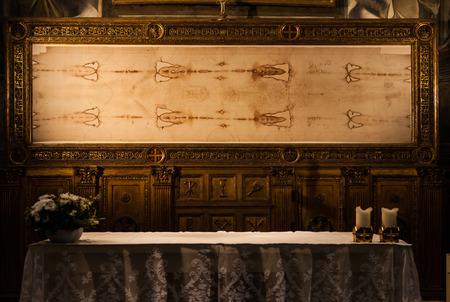 トリノ、イタリアの聖なるエアフロー カバーのコピーの詳細