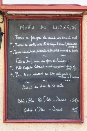Detail Eines Typischen Französisch-Menü In Provence - Frankreich ...