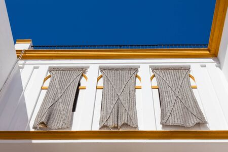 toros: Detail of Plaza de Toros area in Seville - Andalusia Region - Spain Stock Photo