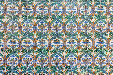 mudejar: Spain, Andalusia Region. Detail of Alcazar Royal Palace in Seville.