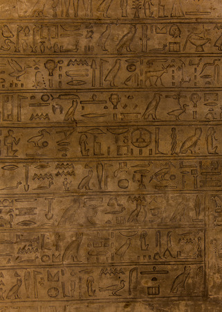 hieroglyph: Egyptian hieroglyph on limestone, 1500-1200 BC
