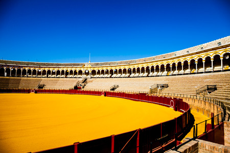 plaza de toros: The Plaza de Toros de la Real Maestranza de Caballería de Sevilla is the oldest bullring in the world.