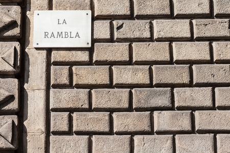 rambla: The famous Barcelona (Spain) landmark - La Rambla Avenue
