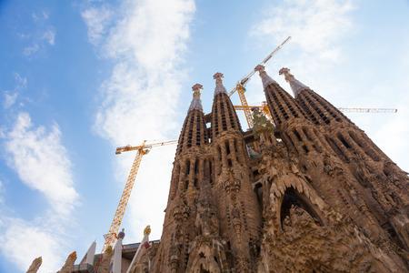 iglesia: Barcelona, ??Espa�a. Detalles esterior asombrosas de la Sagrada Familia
