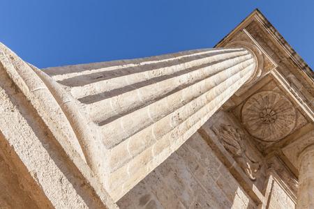 roman columns: Detail in prospective of Roman columns, Italy