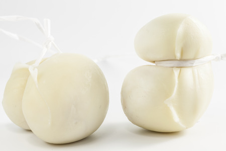 caciocavallo: Sretched-curd cheese made out of sheeps or cows milk. It is produced throughout Southern Italy Stock Photo