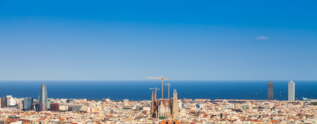 barcelona cathedral: Barcelona - Spain. Wonderful blue sky during a sunny day on the city,