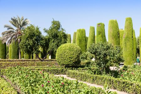 designates: Example of Italian Garden design during spring season